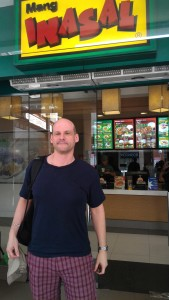 David Papkin outside Inasal Restaurant