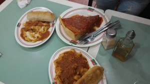 Sbarro Restaurant SM Mall. Pizza, Tortellini and Ziti with Garlic roll