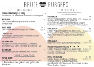 David Papkin BruteBurgersonly menu